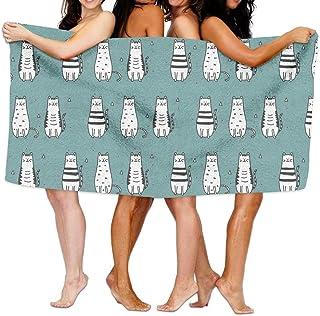 Gebrb Toallas de baño,Toalla de Playa,Manta de Playa Lovel Fat Cats Kitty Bath Towel Adult Microfiber Towel 31 X 51 Inch Bath Sheet