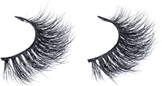 Arison Lashes 3D Mink Fur False Eyelashes Fake Lashes Women's Makeup Natural Soft Individual Long Hand-made 1 Pair Package (3D661)