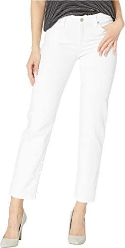 Nico Mid-Rise Cigarette Five-Pocket Jeans in White