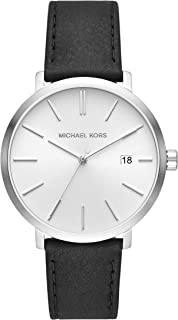 Michael Kors Blake Men's White Dial Leather Analog Watch - MK8674