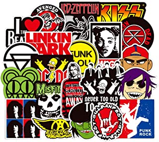 Ratgoo 100 Pcs Graffiti Stickers for Rock and Roll Punk Rap Hip Hop Music Band for Electronic Organ Guitar Piano Violin Drum Flute Brass Laptop Phone Water Bottle Car Motorcycle Skateboard Speaker