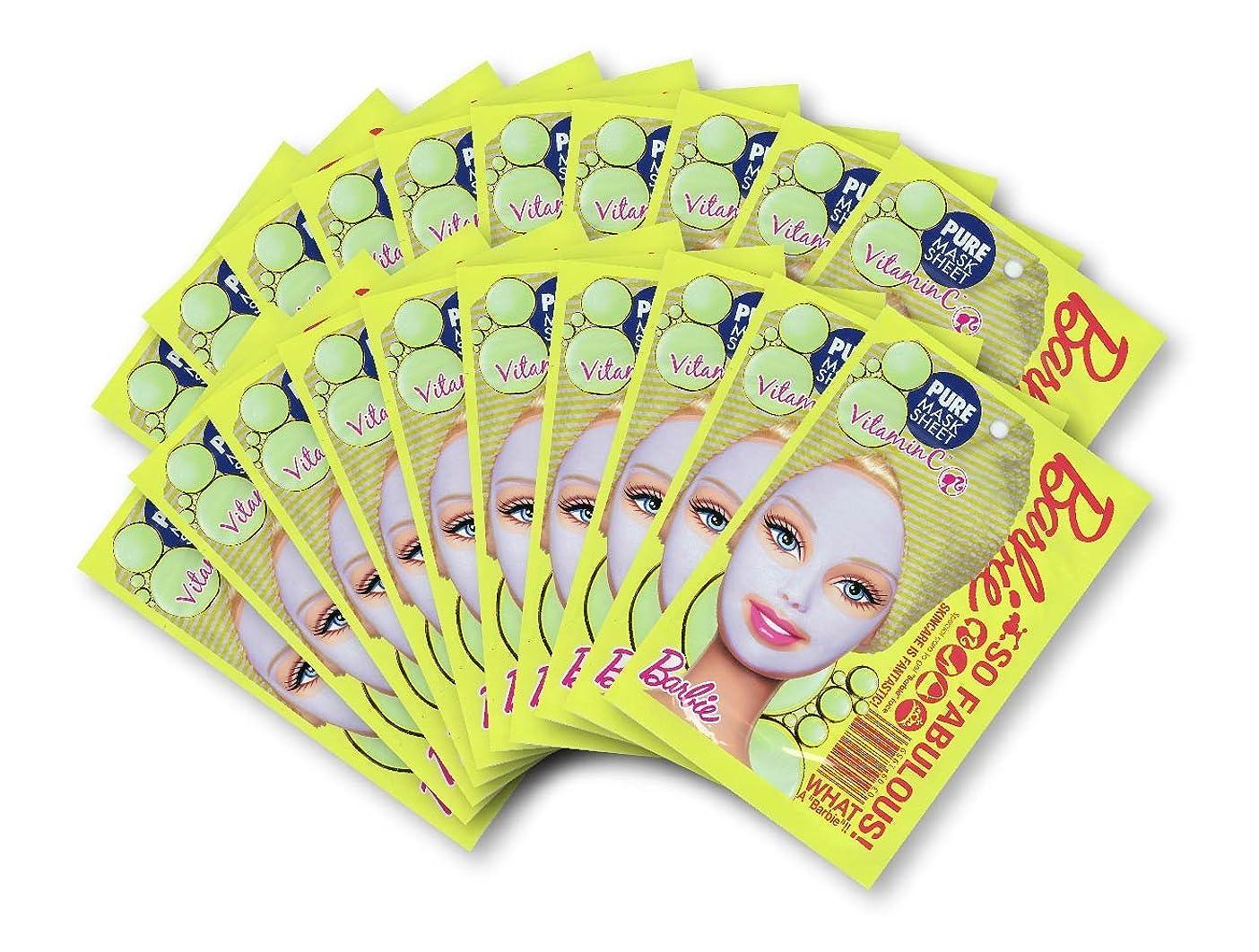 広告主準備したステージバービー (Barbie) フェイスマスク ピュアマスクシートN (ビタミンC) 25ml×20枚入り [透明感] 顔 シートマスク フェイスパック