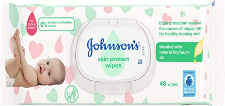 JOHNSON'S Baby Skin Protect Baby Wipes 48 pieces – Ideal for Babies' Delicate Skin