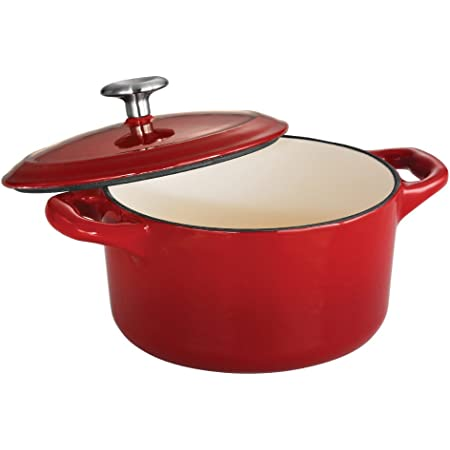 Tramontina Covered Small Cocotte Enameled Cast Iron 24-Ounce, Gradated Red, 80131/056DS