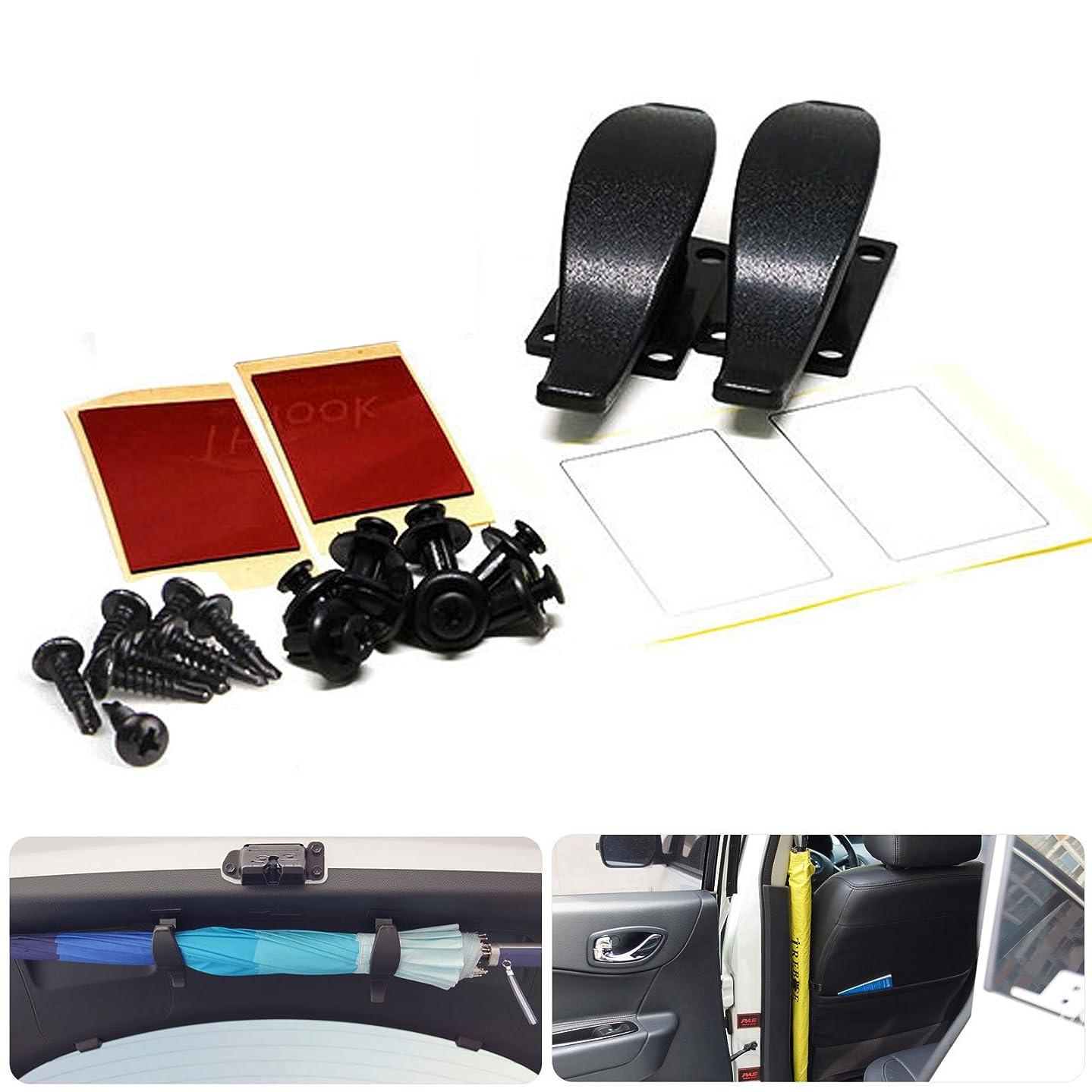 Lifetech Car Automotive Multi Purpose Universal Trunk Lid Umbrella Golf Club Stick Holder Hanger for Truck Suv Auto Car Vehicle Black