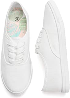 Women's Canvas Shoes White Sneakers Slip On Tennis Shoes...