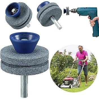 Durable Mower Blade Balancer /& Sharpener Set For Lawn Mower Tractor Garden Tools
