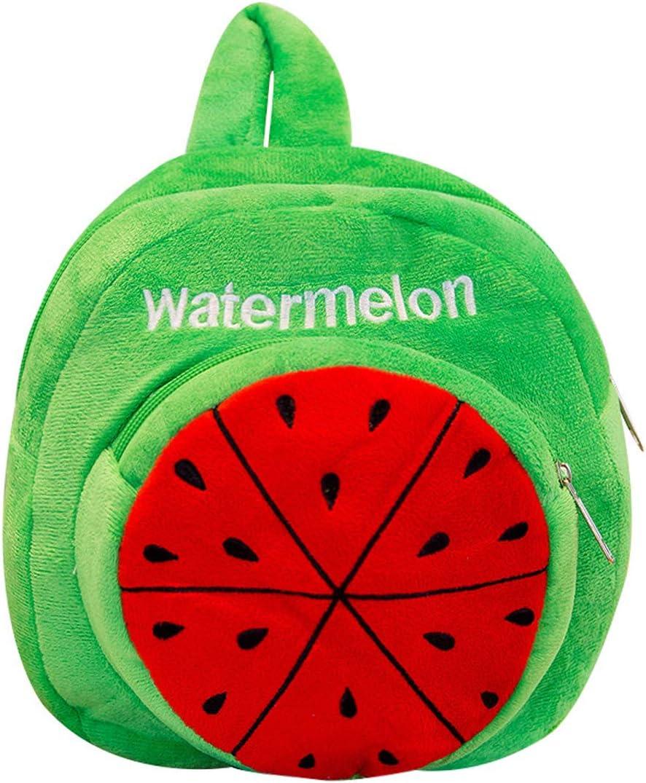 Plush Fruit Series Toddler Backpack Nursery Rucksack Small Bag Mini Travel Bag for Baby Girl Kids Grape