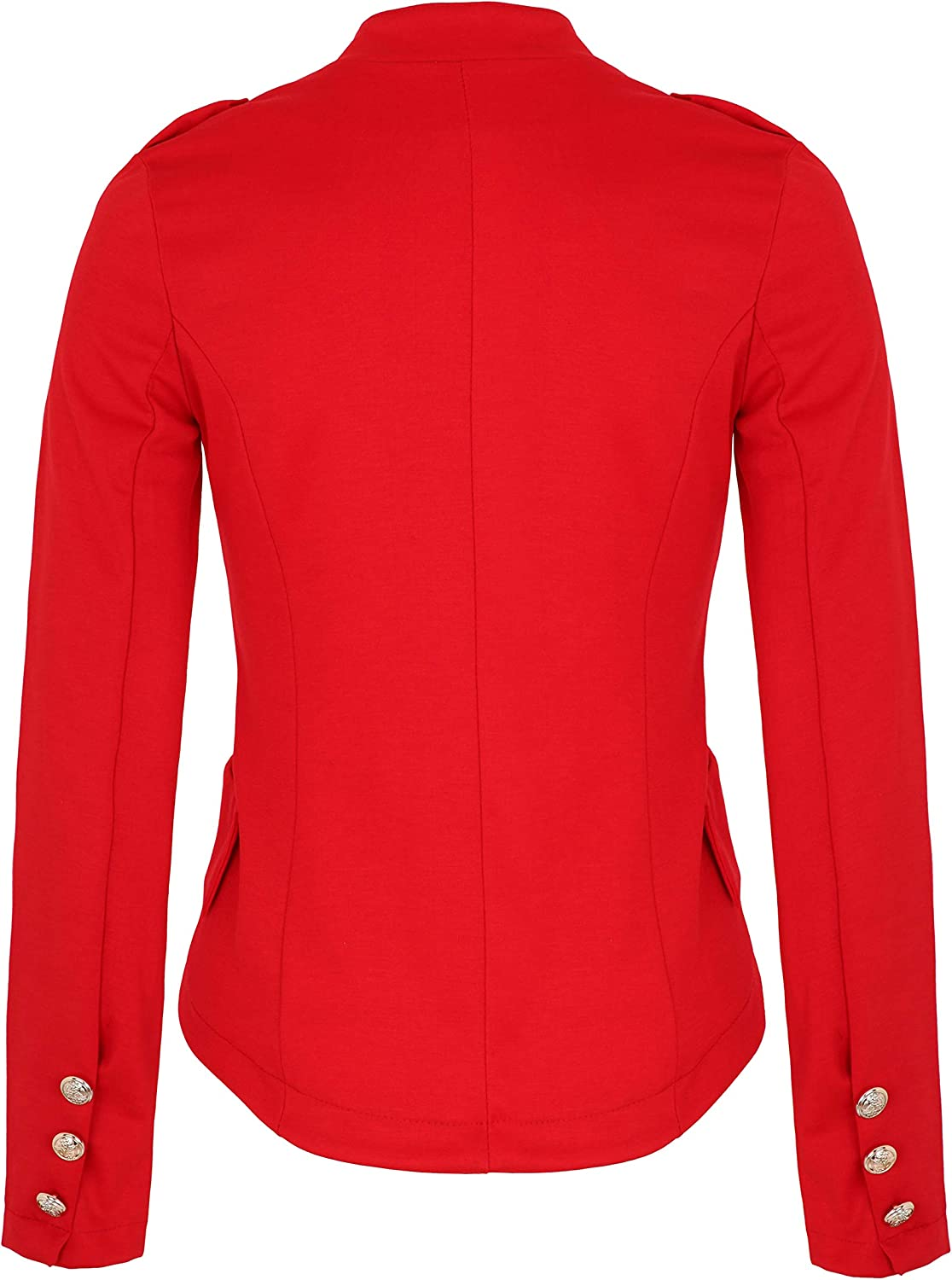 4tuality AO Damen Massimo Military Blazer mit Stickerei Slim fit Gr. S - XXL Rot