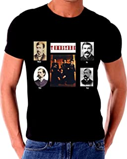 Tombstone Real Wyatt EARP & Doc Holliday Short Sleeve T Shirt