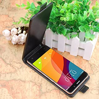 Pretty Box Prevoa ® 丨Original Flip PU Case Cover Funda para Cubot X9 Smartphone - - Negro