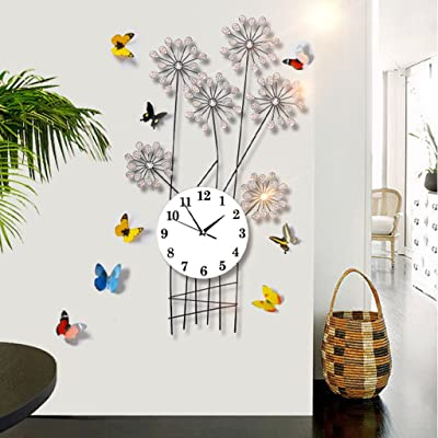 GZD Simple Iron Wall Clock, Postmodern Nordic Acrylic Wall Clock Living Room Mute Wall Clock