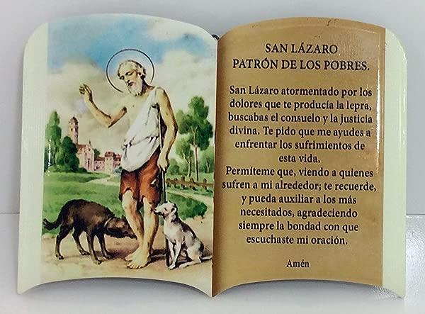 Oracion San Lazaro Saint Lazarous For Table And Wall Para MESA O PARED 6 X4