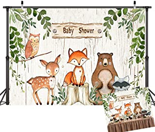 Art Studio Jungle Safari Photography Backdrop Woodland Animals Cartoon Photo Background Baby Shower Birthday Party Banner Studio Props Vinyl 7x5ft