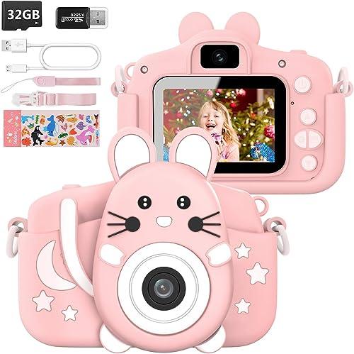 Hangrui Appareil Photo pour Enfant,2.0 Pouces Enfant Appareil Photo Numérique,16M/1080P Caméra avec Objectif Avant et...