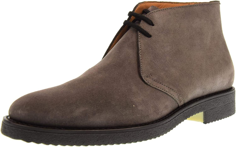 ANTICA CUOIERIA Mans skor skor skor Ankle stövlar 17671 -V -U46 Velor Lupo grå  exklusiva mönster