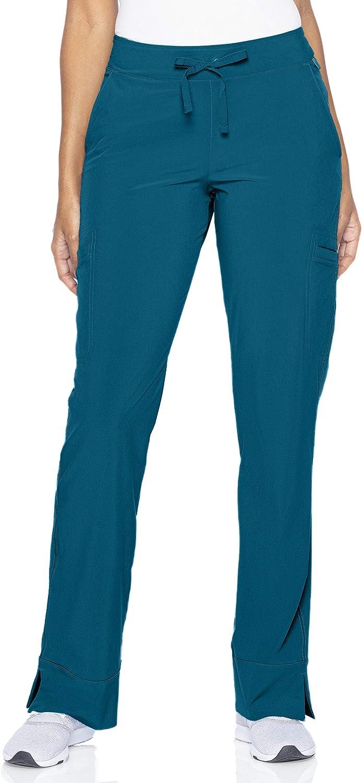 Smitten Women's Petite Hottie Slim-fit 4-Pocket Scrub Pants S201