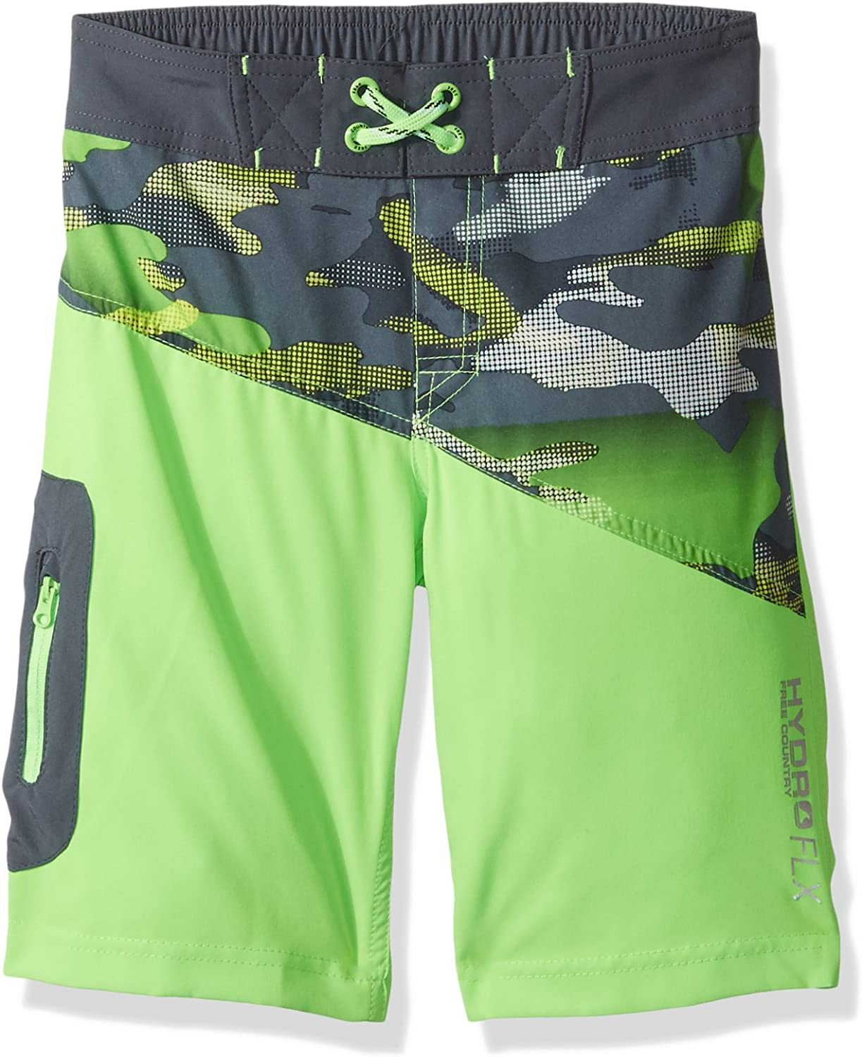Free Country Boys' Gg Gnarly Camo Stretch Board Short Little