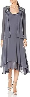 Women's Embellished-Shoulder and Neck Jacket Dress