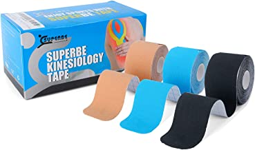 Kinesiology Tape Precut - K Taping Strips - Cintas Kinesiologicas for Pain Relief, Muscle Support & Injury Recovery, Water...