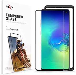 Zizo Full Glass Compatible with Samsung Galaxy S10 Tempered Glass Screen Protector Anti Scratch 9H Hardness Black