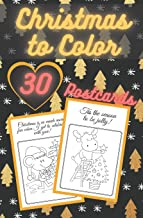 Christmas to Color Postcards: Handmade Tear-Out Coloring Cards | Create Your Own Blessings | Funny Quotes | Gift Tags | Bo...
