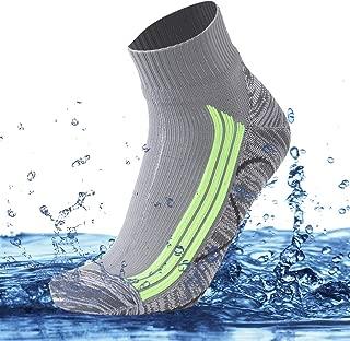 100% Waterproof Breathable Socks, Unisex Cushioned Wicking Dry Fit Outdoor Sports Hiking Running Skiing Socks 1 Pair