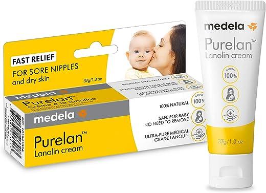 Pomada Lanolina para Hidratação dos Mamilos Medela Purelan 2.0-37g, Medela, Incolor, 37G