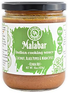 Nummy Nibbles Malabar Indian Cooking Sauce|Whole30 Approved, Vegan,No Added Sugar,Non GMO,Keto Friendly,Dairy Free