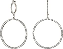 Double Pave Ring Drop Earrings