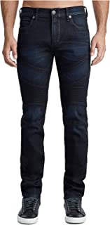 True Religion Men's Rocco Classic Moto Skinny Fit Stretch Jeans in Boost Blue