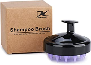 Hair Scalp Massager, Wet and Dry Shampoo Massage Brush with Soft Silicone Head, Black