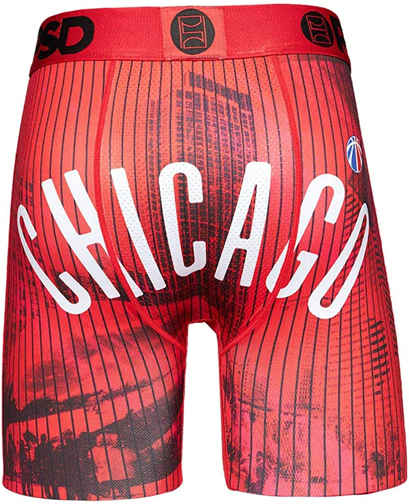 PSD Men's Boxer Brief (Red/Chi Town, XXL)