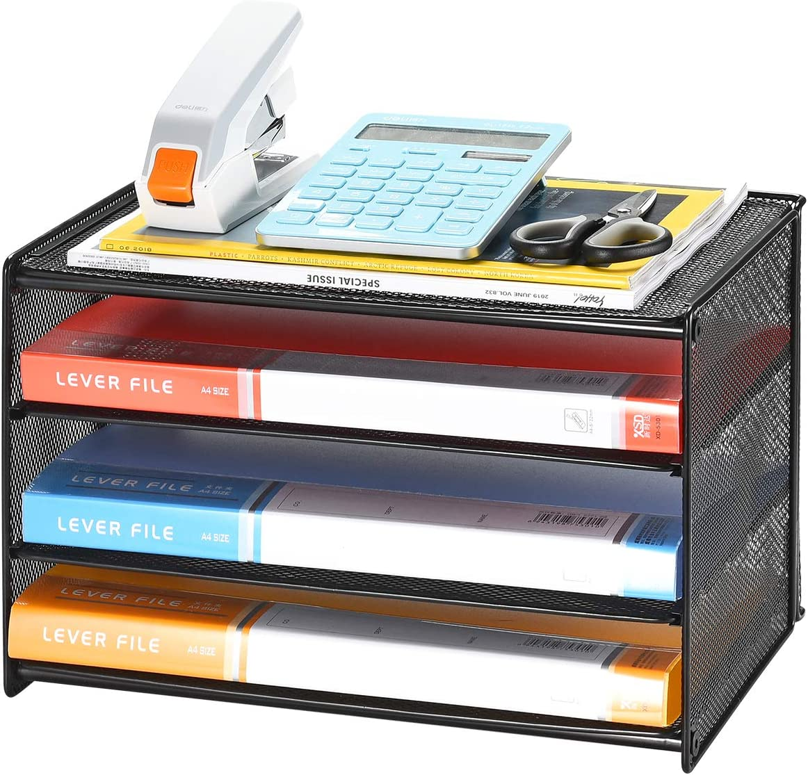 Samstar Charlotte Mall Paper Letter Tray safety 3 Sort File Desk Tier Organizer