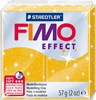 Staedtler FIMO Effects Polymer Clay - -Oven Bake Clay for Jewelry, Sculpting, Glitter Gold 8020-112