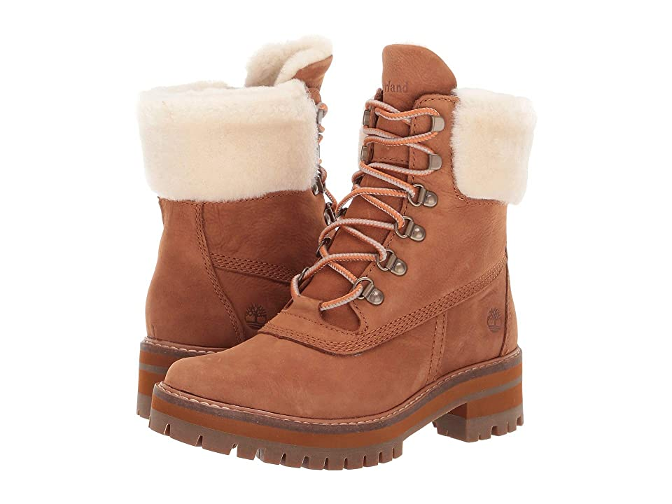Timberland Courmayeur Valley 6 Boot with Authentic Shearling Lining (Rust Nubuck) Women