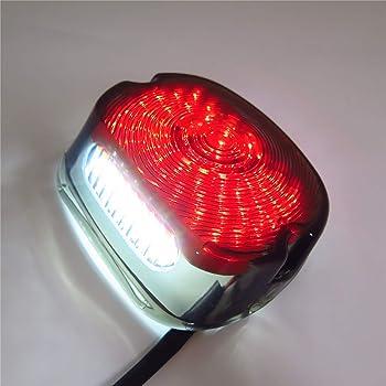 Sharplace Lampada Di Freno Luce Di Stop Fanale Faro Posteriore Segnale Per Motocicletta Harley XL 833 1200 Fumo