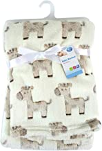 """First Steps"" Luxury Soft Fleece Baby Blanket with Cute Giraffe Design 75 x 100cm for Babies from Newborn"