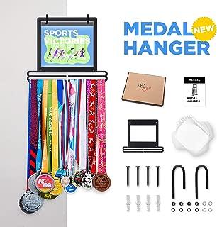 Prof Puro Sports Marathon Medal Display Hanger Holder for 40 Medals 100 Runner Race Bibs 20 Flip Pouches for Race Bibs Photos Memorabilia