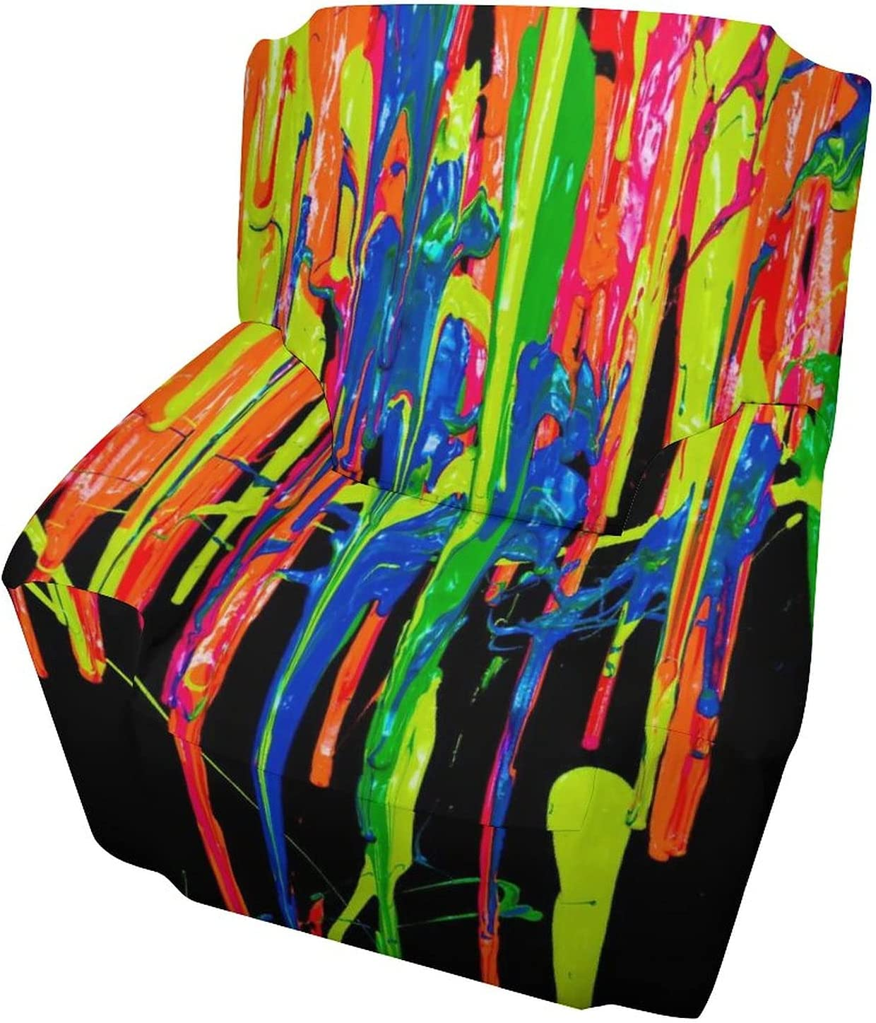Hello Gorgeous Chair Time sale Sofa Colorful Max 44% OFF S Painting Slipcover in Black