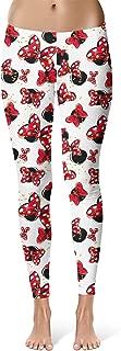 Rainbow Rules Minnie Bows and Mouse Ears Disney Inspired Sport Leggings - Full Length, Mid/High Waist