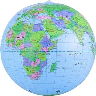 توپ ساحلی بادی NUOBESTY بادی Globe PVC World Globe برای بازی یا آموزش ساحل