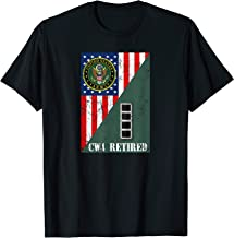 Retired Army Warrant Officer Four CW4 Half Rank & Flag Tee
