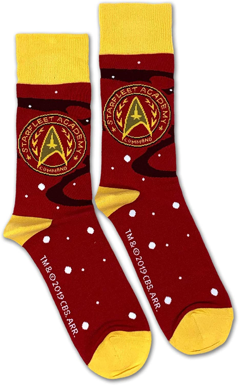 Star Trek Starfleet Academy Command Officially Licensed Unisex Crew Socks - One Size Fits Most