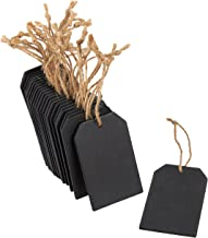 Juvale Chalkboard Tags - 24-Piece Hanging Wooden Mini Chalkboard Signs, Ideal Price Tags, DIY Kids Crafts, Decorative Labels, Message Tags, 2 x 3.1 inches