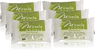Miracle Noodle Shirataki Fettuccini, Gluten-Free, Zero Carb, Keto, Vegan, Soy Free, Paleo, Blood Sugar Friendly, 7oz (Pack of 6)