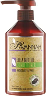 Savannah Hair Therapy Shea Butter Hair Conditioner - Moisture Repair Treatment - Cotton and Silk Protein and Vitamin B6 - ...