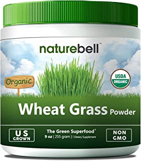 U.S Grown Organic Wheat Grass Powder, 9 Ounce, 85 Servings, Powerfully Supports Energy, Immune System and Digestive Function, Non-Irradiated, Non-GMO & Vegan Friendly