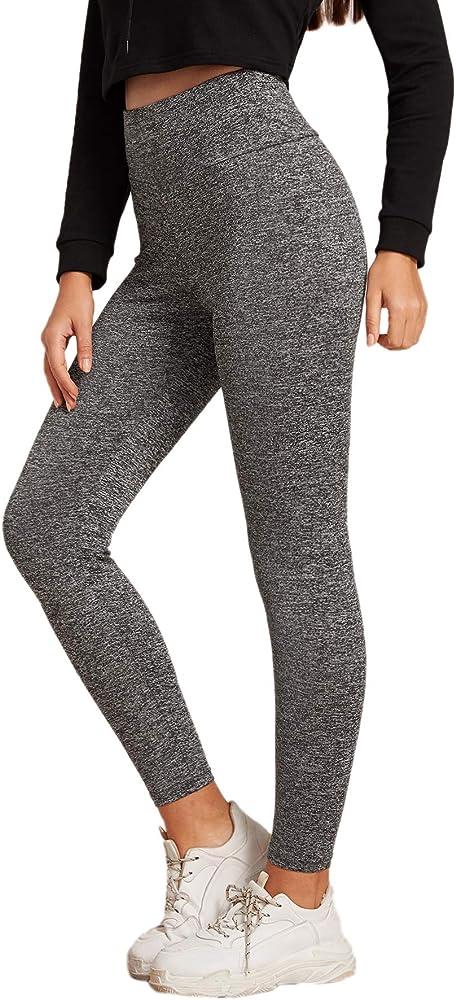 Soly hux, leggings sportivi da donna, leggings da yoga, fitness, palestra, vita alta, slim,95% poliestere, 5% 07191024408-15-14-L