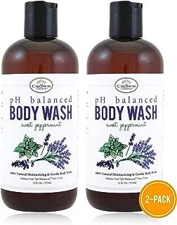 100% Natural Vegan Liquid Bath Soap (2PK) | pH Balanced Body Wash for Sensitive Skin | Naturals Non Toxic Shower Gel for Men Women | Aloe, Spearmint, Lavender, Manuka